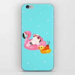 Cory cats in the swimming pool 2 iPhone Skin