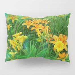 Day-glo Lilies Pillow Sham