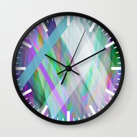 rave Wall Clocks featuring Crystal Rave by GS Designs