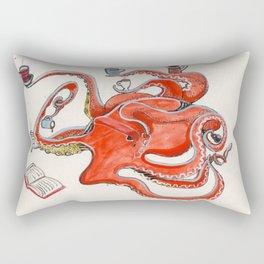 Olive the Octopus Barista Rectangular Pillow