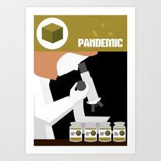 Pandemic - Yellow Art Print