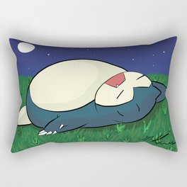 Snorlax Sleeping Rectangular Pillow