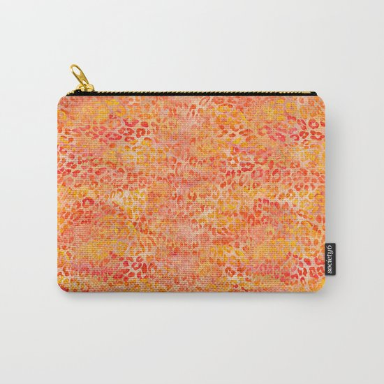 Orange Leopard Print Carry-All Pouch