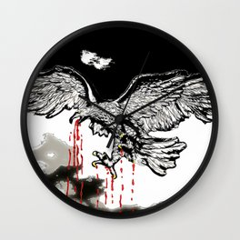 Eagle:  Feasting  Bird of Prey #2 Wall Clock