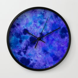 Lapis DyeBlot Wall Clock