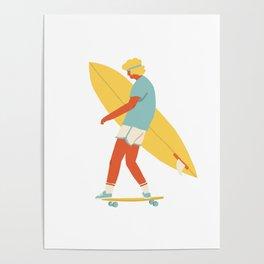 Skater from 70s Poster
