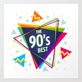 Fashion 90's style Art Print