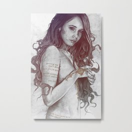 You Lied: Rainbow (nude girl with mehndi tattoos) Metal Print