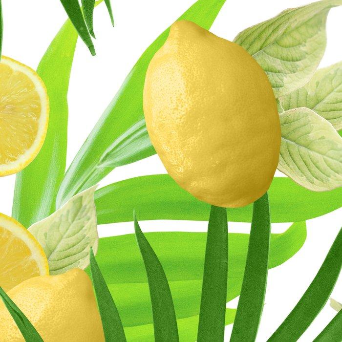 Summer Lemon Twist Jungle #2 #tropical #decor #art #society6 Leggings