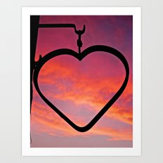 Love Sunset Art Print