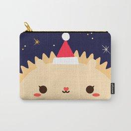 Merry Christmas Hedgehog Carry-All Pouch