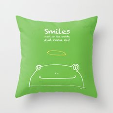 Frog Angel Throw Pillow