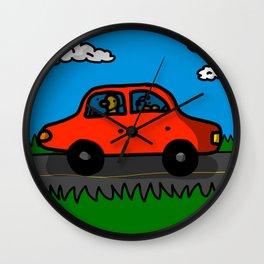 Road Trip ft. Baby Duck | Veronica Nagorny  Wall Clock