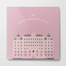 Wes Anderson Icon Metal Print