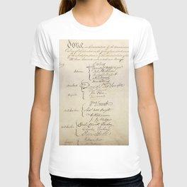 United States Constitution Signatures T-shirt