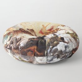 Hans Makart - The victory of light over darkness - Digital Remastered Edition Floor Pillow