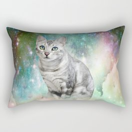 Purrsia Kitty Cat in the Emerald Nebula of Innocence Rectangular Pillow