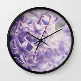Purple Hyacinth Wall Clock