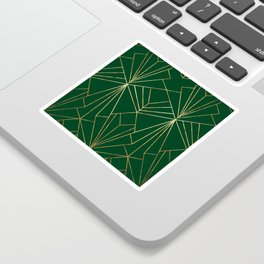 Art Deco in Gold & Green - Large Scale Sticker
