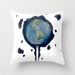 Earth Pop Throw Pillow