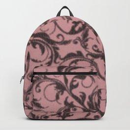 Vintage Swirls Bridal Rose Backpack