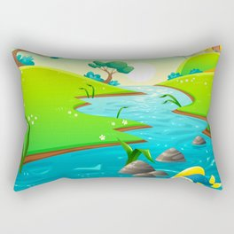 River of Chiller Rectangular Pillow