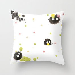 Susuwatari Throw Pillow