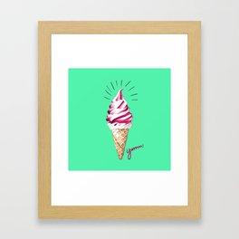 Yummy Ice Cream | Digital Art Framed Art Print