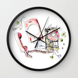 Flowerphone Wall Clock