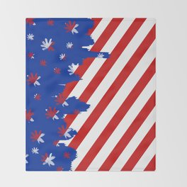 Patriotic Painting Throw Blanket