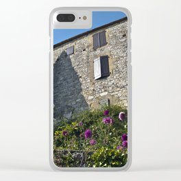 Little French village with a Medieval Castle Clear iPhone Case