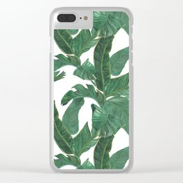 banana leaves pattern Clear iPhone Case