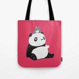 Panda 3 Tote Bag