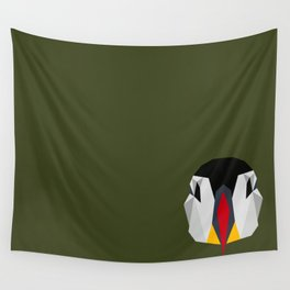 Geometric Puffin (Realistic) Wall Tapestry