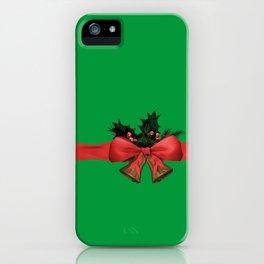 green xmas gift iPhone Case