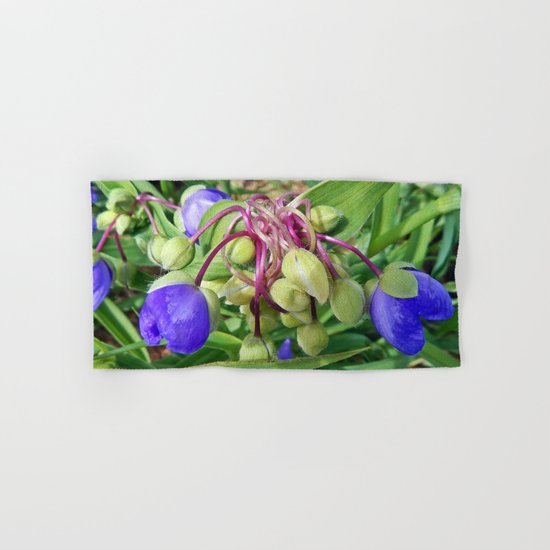 Spiderworts Flower Stems Hand & Bath Towel