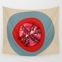 pomegranate Wall Tapestries featuring Pomegranate  by Irena Orlov