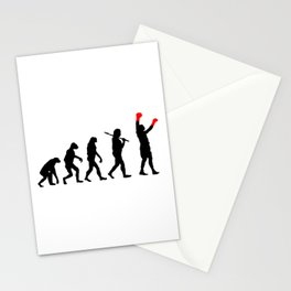 Boxing Evolution Art Stationery Cards