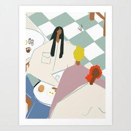 New Orleans Diner Art Print