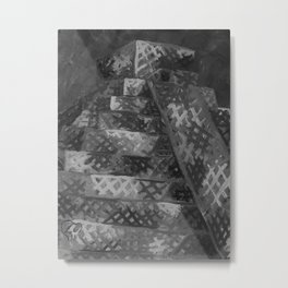 Pyramid by Lu, Black and White Metal Print