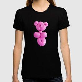 Pink party balloon teddy bear T-shirt