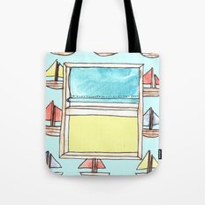 boats on the wall Tote Bag