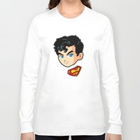 superman Long Sleeve T-shirts featuring Superman by studio1six