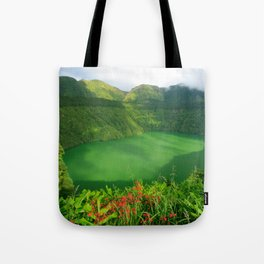 Lake in Azores Tote Bag