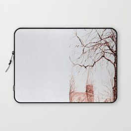 Church and Tree Laptop Sleeve
