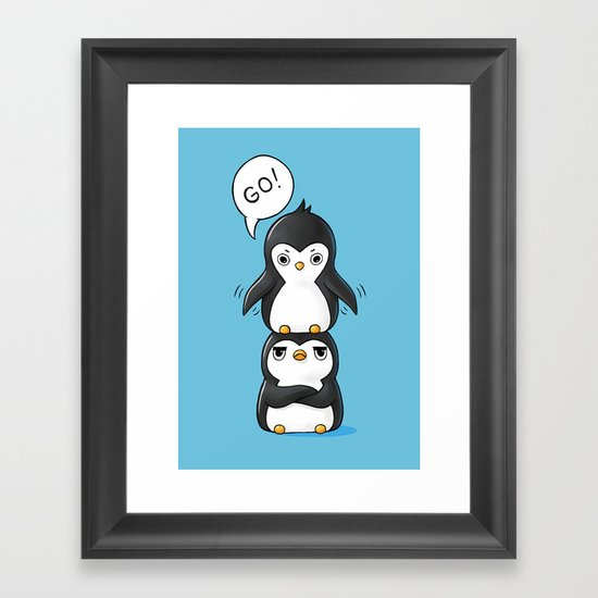 Penguins Framed Art Print