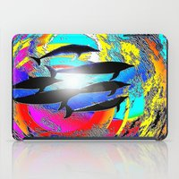 dolphins iPad Cases featuring Dolphins by JT Digital Art