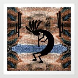 Kokopelli Southwest Desert Art Print