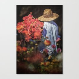 Picking the Flowers Canvas Print
