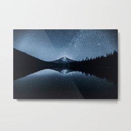 Trillium Lake Stars And Milky Way   7-25-19 Metal Print
